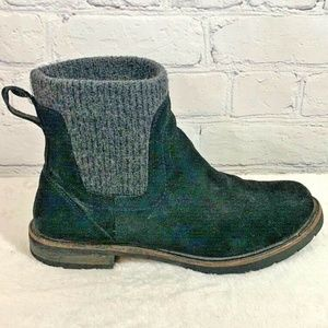 LL Bean East Point Black Suede Chelsea Boots 8.5 M
